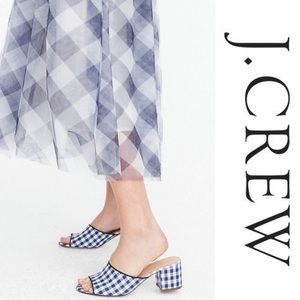 J.Crew All Day Block Heel Slide Sandal